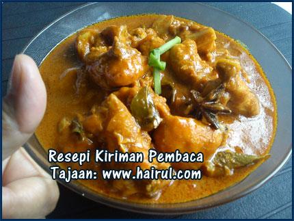 Resepi Kari Ayam Santan Pekat | Blog Hairul