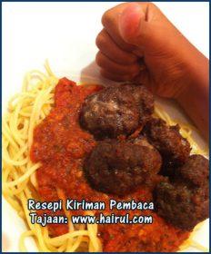 Resepi Spaghetti Bolognese Bebola Daging