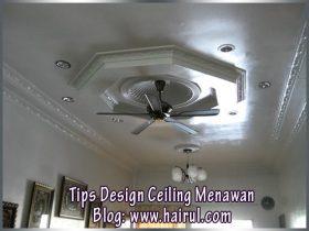 Contoh Design Ceiling Dari Rumah Saya & Kisah Peniaga Putu Jana RM1500 Seminggu.