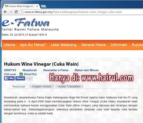 hukum cuka wain