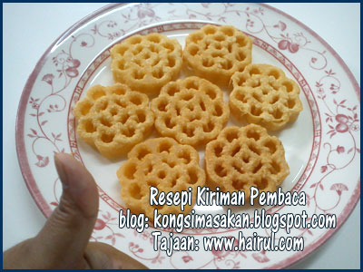 Resepi Kuih Bunga Ros Manis Rangup