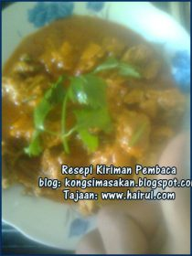 Resepi Kari Ayam Dadih Special