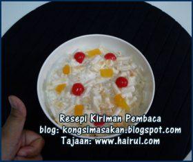 Resepi Macaroni Fruit Salad Special