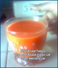Resepi Air Jus Lobak Merah Special