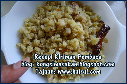 Resepi Plantain Stem Stir Fry