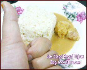 Resepi Pulut Durian Gula Melaka