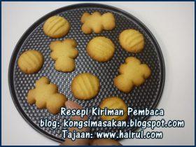 Resepi Butter Cookies Paling Sedap