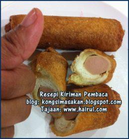 Resepi Sosej Roti Gulung Special