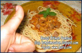 Resepi Spageti Bersos Tomato Yang Sedap
