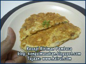 Resepi Telur Dadar Cendawan Mayo