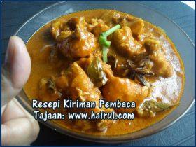 Resepi Gulai Ayam Santan Pekat Special