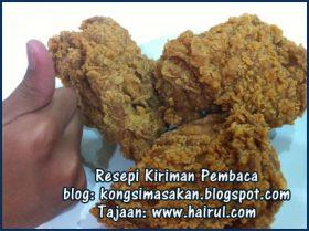 Resepi Ayam Goreng KFC Paling Rangup