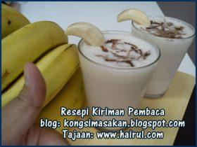 Resepi Banana Milk Shake