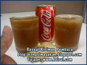 Resepi Coca Cola Sirap Halia
