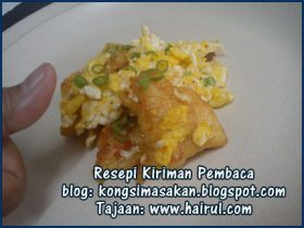 Resepi Egg with Fish Fillet Special