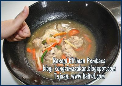 Resepi Ayam Masak Halia Chef Hairul Hissam