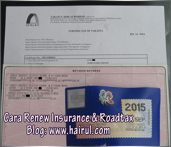 polisi insurance dan roadtax