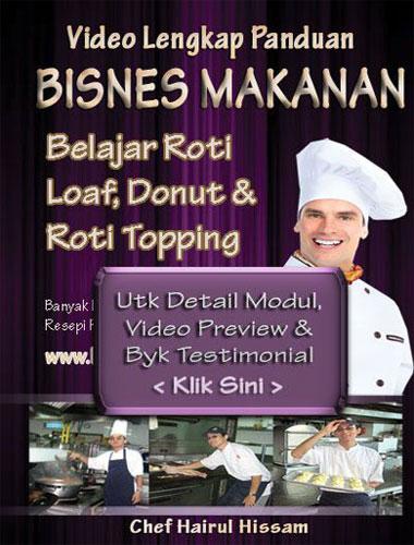 DVD KELAS Roti Buku Loaf, Donut, Pizza Utk Singapore Melaka