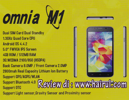 Specification for Omnia m1