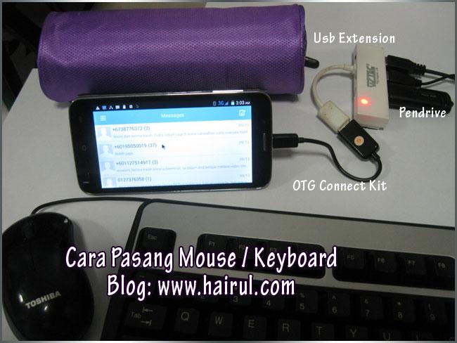 Pasang keyboard dan mouse ke handphone