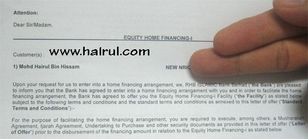 Pinjaman Perumahan Saya Berjaya | Tima Kasih RHB Bank