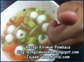 Resepi Sup Bebola Ikan Special